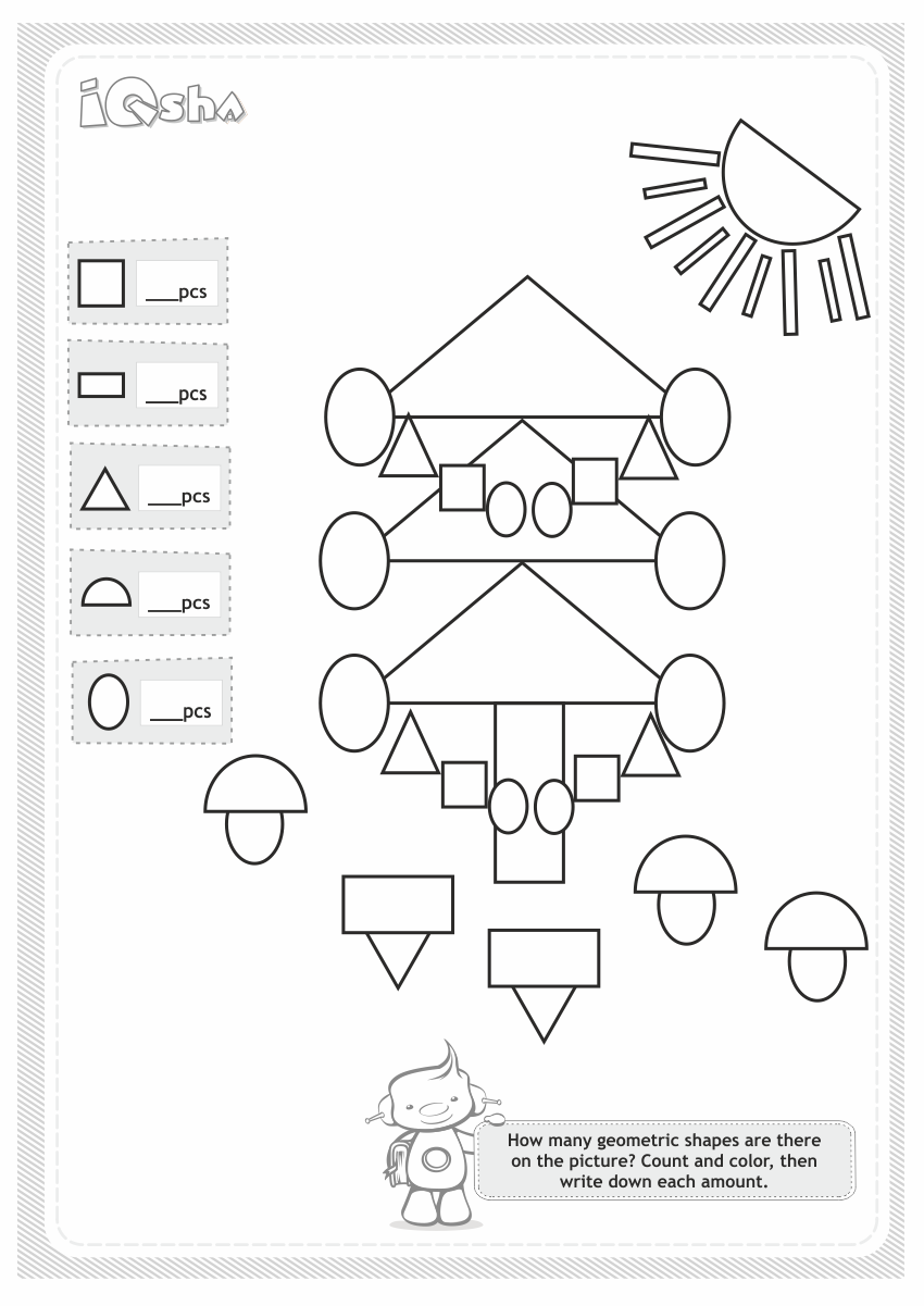 Geometric Shapes For Kids Logic Diagram You Can Continue Making Up The Logical Tasks Choose A Big Yellow Trapezoid And Orange Triangle
